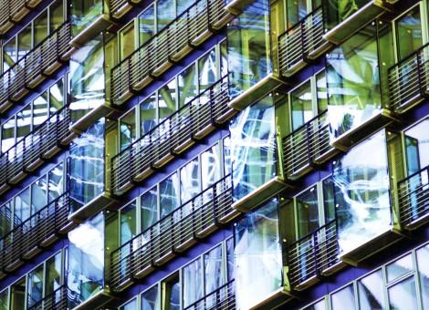 urban reflection image