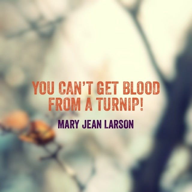 Mary Jean Larson Quote